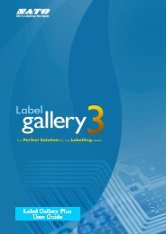 Label Gallery Label Gallery Plus User Guide - Sato Europe