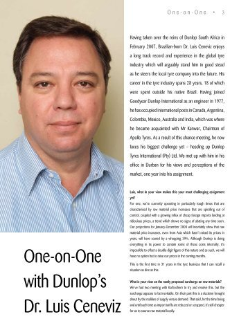 One-on-One with Dunlop's Dr. Luis Ceneviz - SA TREADS