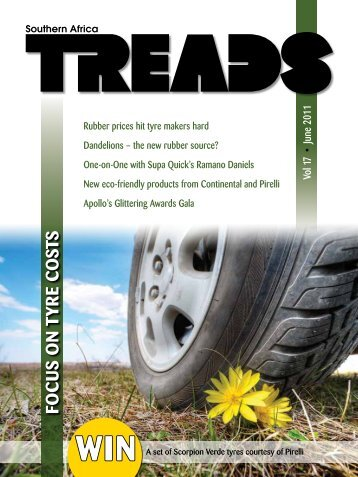 Fo c u s o n Tyr e cosTs - SA TREADS