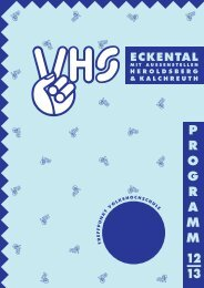 VHS Programm Herbst-/Winter 2012/2013 - Eckental