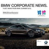 Fleet news from bmw. summer 2012.