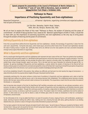 English (PDF) - Satyug Darshan Trust