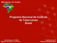 Programa Nacional de Controle da Tuberculose Brasil