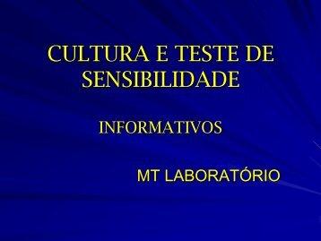 CULTURA E TESTE DE SENSIBILIDADE