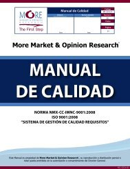 More Market & Opinion Research