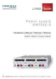 Hameg - HM7042-5 - Benutzerhandbuch - datatec Gmbh