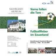 Fußballfieber im Sauerland Vorne fallen die Tore - Sauerland-Museum
