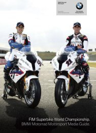 FIM Superbike World Championship. BMW Motorrad Motorsport ...