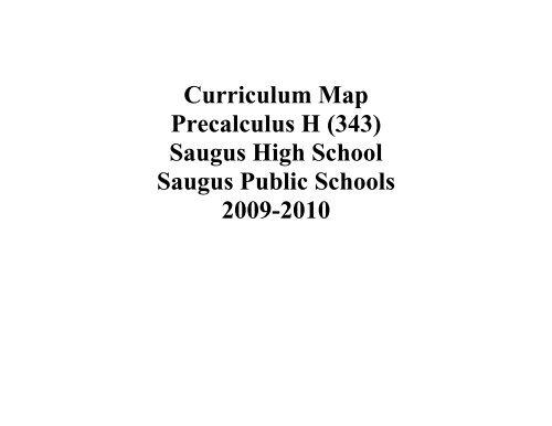Curriculum map saugus high school saugus public schools