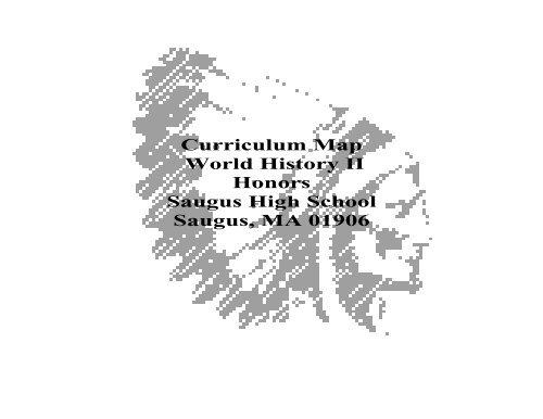 Curriculum Map World History II Honors Saugus High School