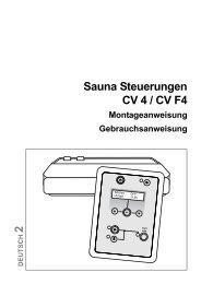 CV 4 und CV F4 -Bedienungsanleitung, komplett