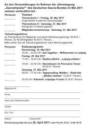 """""""Saunaimpulse®"""" des Deutschen Sauna-Bundes im Mai 2011 ..."""