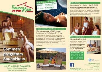 Sommerprogramm - Bäder Ganderkesee