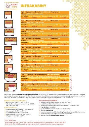 INFRAKABINY - Sauny Vital