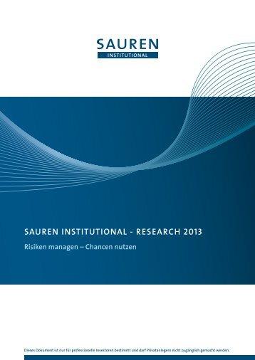 """RESEARCH, """"Risiken managen – Chancen nutzen"""" [PDF] - Sauren"""