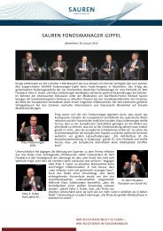 SAUREN Fondsmanager-Gipfel 2013