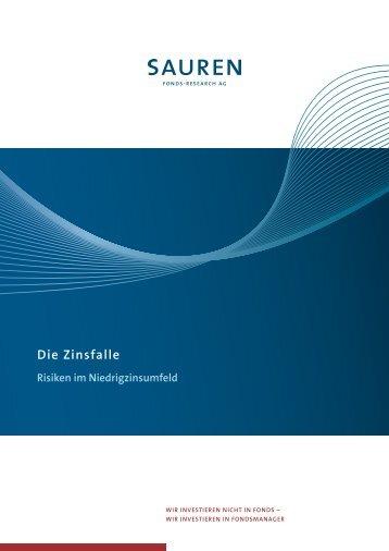 Die Zinsfalle – Risiken im Niedrigzinsumfeld - Sauren