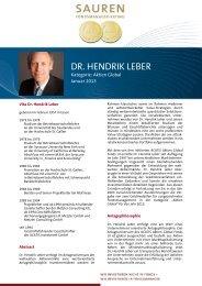 Fondsmanager-Rating: Dr. Hendrik Leber - Sauren