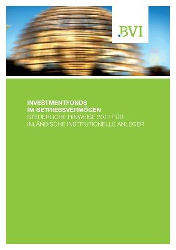 investmentfonds im betriebsvermögen STEUERLICHE ... - Sauren