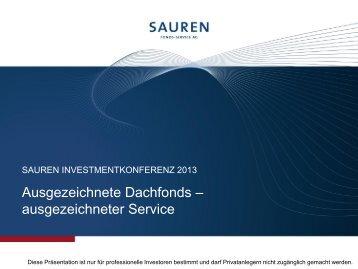 """Präsentation: """"Ausgezeichnete Dachfonds ... - Sauren"""