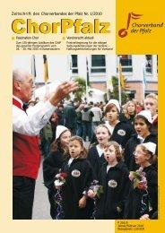Zeitschrift des Chorverbandes der Pfalz Nr. 1/2010 - ChorPfalz online