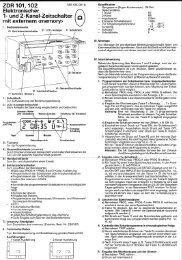 zDR 101,102 Elektronischer - Sauter Building Control Schweiz AG