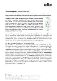 Braun Silk-épil Pressemitteilung  (Dezember 2011) (PDF)