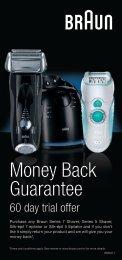 Money Back Guarantee - Braun