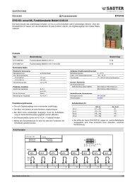 nova106, Funktionskarte Befehl 0-I/0-I-II - Sauter Building Control ...