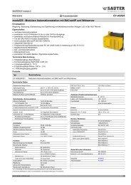 Modulare Automationsstation mit BACnet/IP und Webserver
