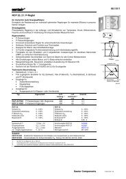 68.101/1 RCP 20, 21: P-Regler Sauter Components