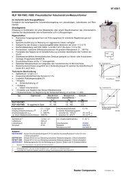 RLP 100 F903, F908: Pneumatischer Volumenstrom-Messumformer