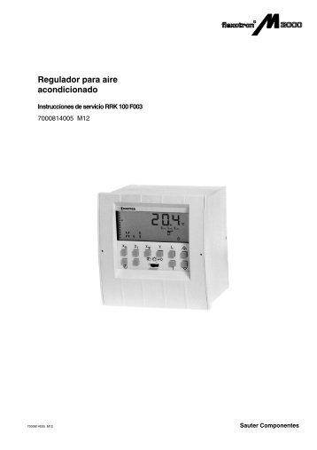 Regulador para aire acondicionado - sauter-controls.com sauter ...