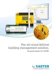 BACnet building management solution - sauter-controls.com sauter ...