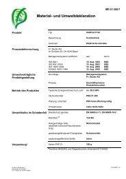 Material- und Umweltdeklaration - sauter-controls.com sauter ...