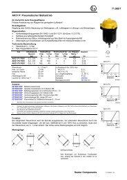 AK31 P: Pneumatischer Stellantrieb - sauter-controls.com sauter ...