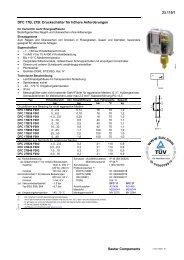 DFC 17B, 27B: Druckschalter für höhere Anforderungen - Sauter ...