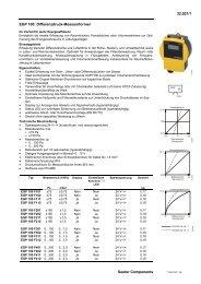 EGP 100: Differenzdruck-Messumformer (7132021001) - Sauter