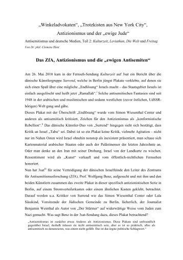 Deutsche Medien und Antisemitismus Teil 2 - Clemens Heni