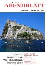 15-tägiger Kururlaub auf Ischia - Leserreisen - Berliner Abendblatt