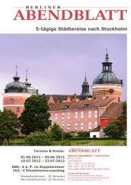 5-tägige Städtereise nach Stockholm - Leserreisen - Berliner ...