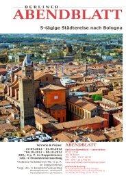5-tägige Städtereise nach Bologna - Leserreisen - Berliner Abendblatt