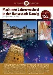 Maritimer Jahreswechsel in der Hansestadt Danzig - Leserreisen