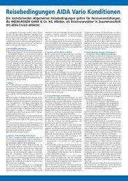 Allgemeine Geschäftsbedingungen des Veranstalters - Leserreisen