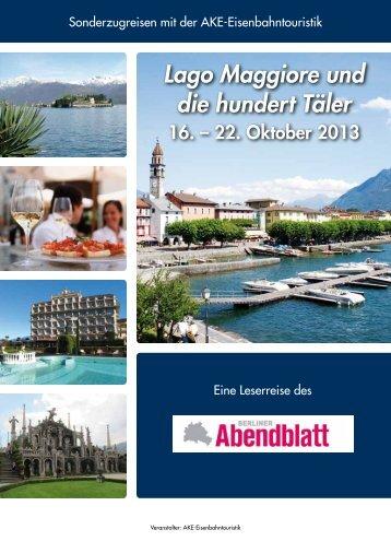 Lago Maggiore und die hundert Täler - Berliner Abendblatt ...