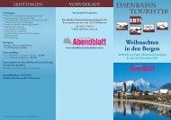 EISENBAHN TOURISTIK - Berliner Abendblatt Leserreisen