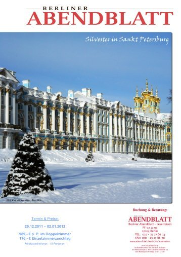 Silvester in Sankt Petersburg - Leserreisen
