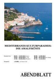 mediterranes kulturparadies: die amalfiküste - Leserreisen