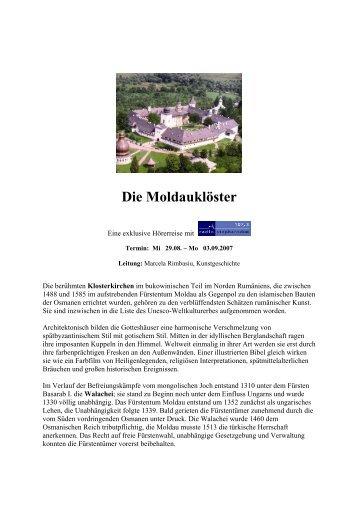 Die Moldauklöster - Radio Stephansdom