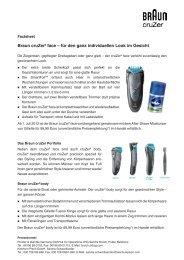 Braun cruZer6 face Datenblatt (Juli 2012) (PDF)